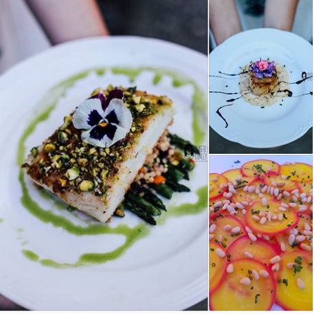 Love these shots of our food from a styled wedding shoot! Published on the Friar Tux Blog today!