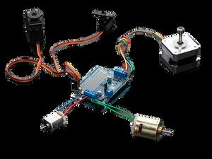 Усилитель постоянного тока и серводвигатели с  Arduino Motor Shield