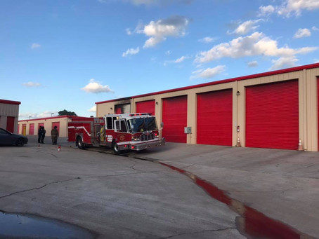 Car Fire Destroys Shreveport Storage Building