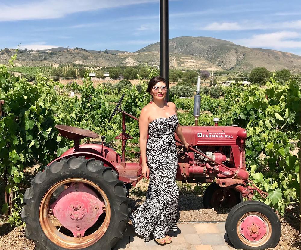 tasteful escape woman vineyard wine travel Latina