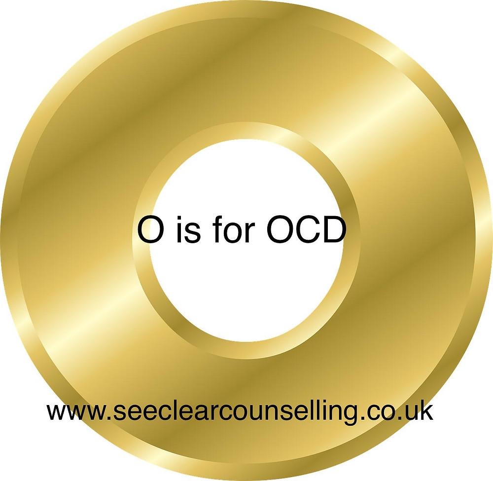 Gold letter O for OC