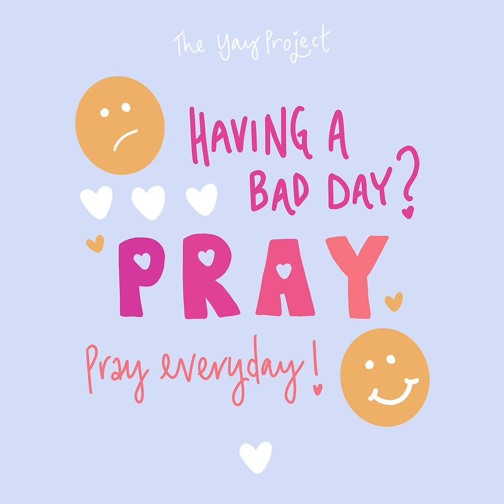 Fun cute colourful prayer encouragement reminder by The Yay Project Jenni Lien