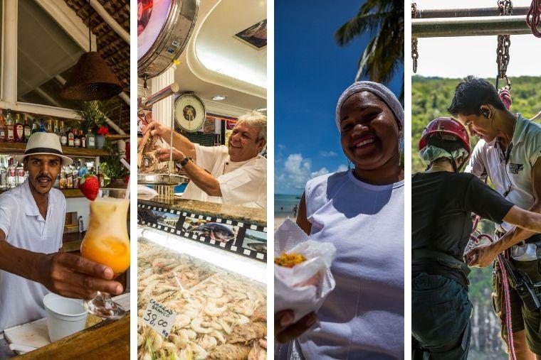 Número acompanha crescimento que acontece desde abril no segmento 'alojamento e alimentação'. O ministro do Turismo, Marcelo Álvaro Antônio, comemorou os resultados divulgados hoje pelo IBGE.