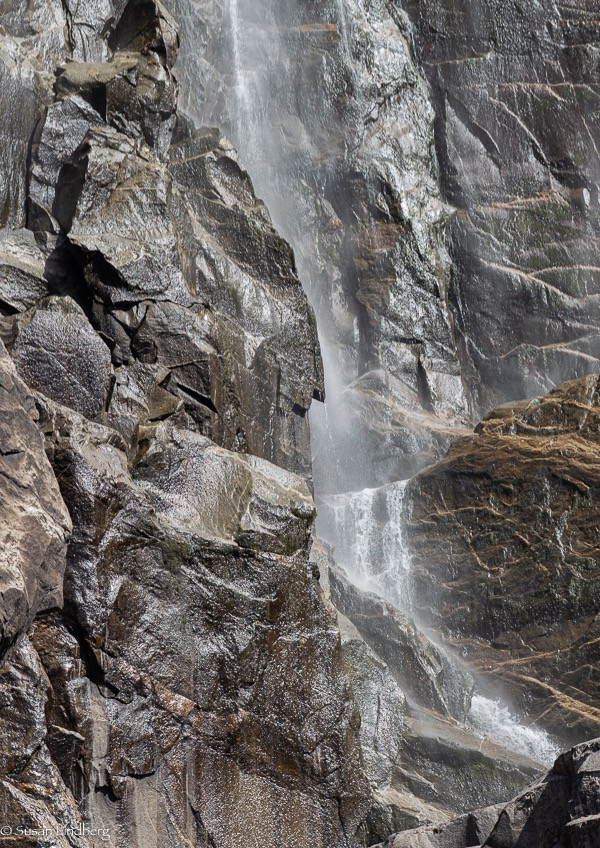 close up of Yosemite Falls, Yosemite, CA