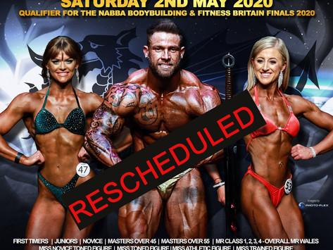 NABBA Wales 2020 Poster