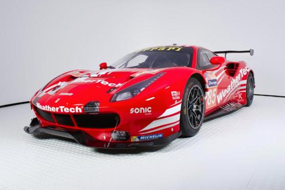 The #85 Keating Motorsports/Risi Competizione Ferrari