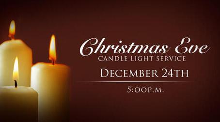Christmas Eve Service  5:00 pm