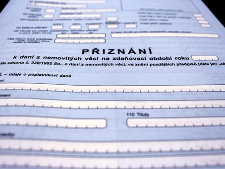 Daň z nemovitých věcí v roce 2021 a prodloužený termín pro podání
