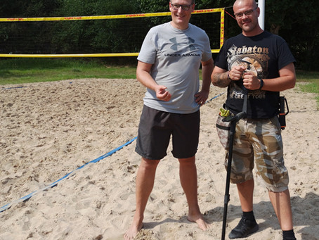 Der Ring im Beachvolleyballfeld