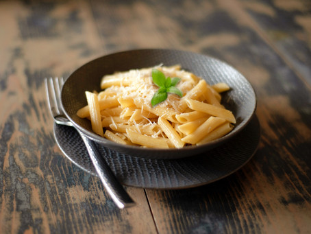 Buttered Penne Pasta with Parmesan Cheese