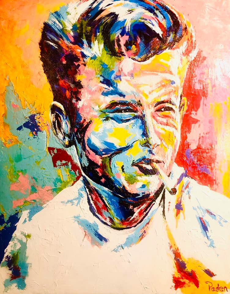 Portrait of James Dean by Oklahoma artist, Matthew R. Paden