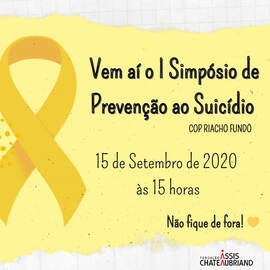 Centro Olímpico do Riacho Fundo I realiza 1º Simpósio Online de Prevenção ao suicídio!
