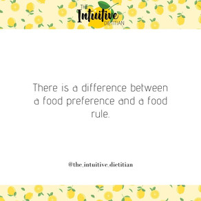 Food preference VS food rule