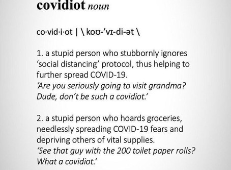 Word of the Year? Covidiot
