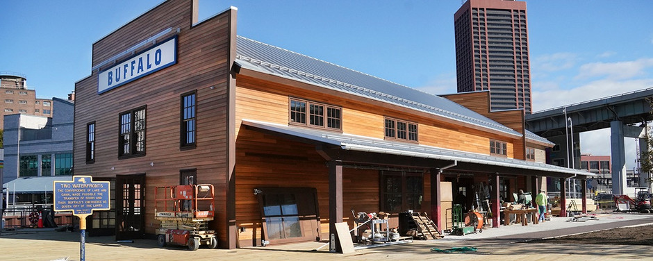 Governor Andrew Cuomo Announces Completion of Longshed Building at Canalside on Buffalo's Waterfont