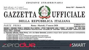"""NOVITA' D.L. """"CURA ITALIA"""""""