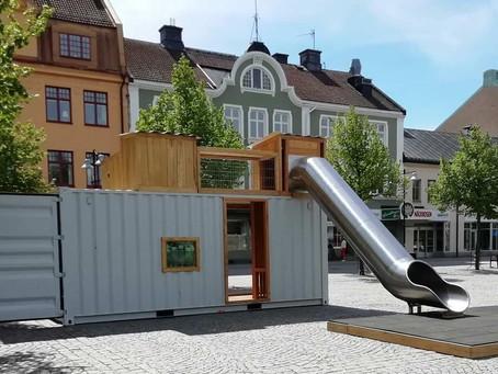 Pop-up lekpark för levande stadskärna