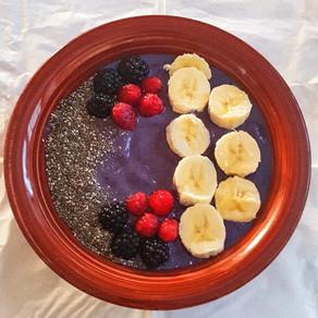 Purple Frozen Fruit Bowl