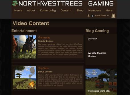 Website Progress Update