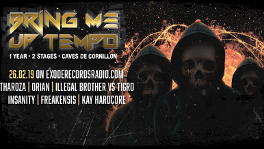Tonight on Exode Records Radio [Bring Me Uptempo 1 year Special]