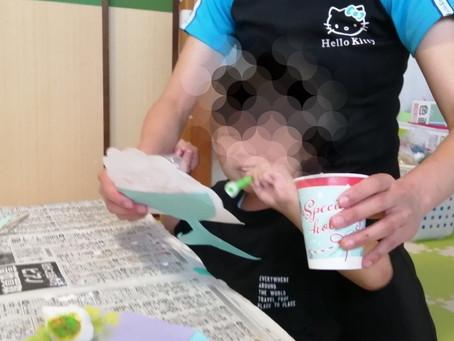8月13日 ハイ♥にこ♥ポン かき氷工作🍧