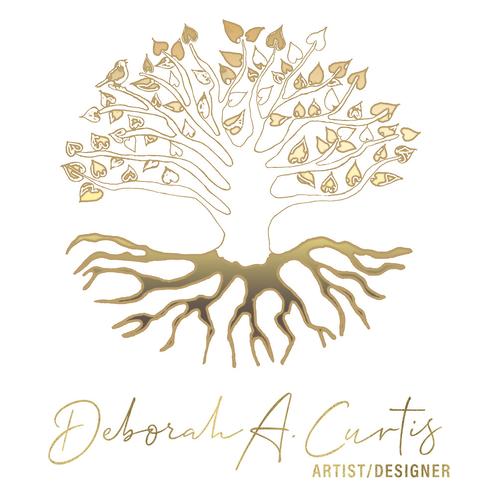 Soft Gold Tree Of Life Logo for Deborah A. Curtis Designs