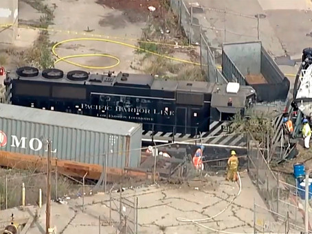A train engineer allegedly derailed a locomotive near the USNS Mercy intentionally