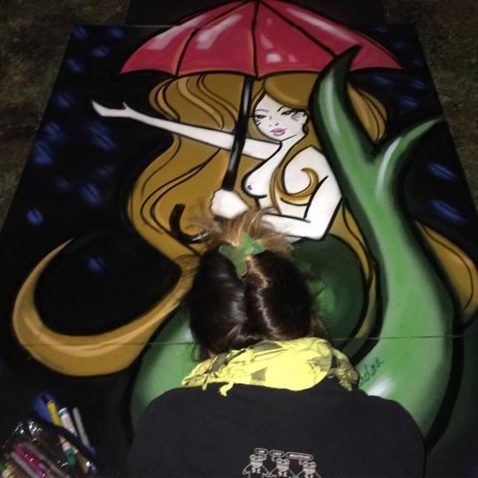 Miami Artist Tesoro Carolina Live Painting