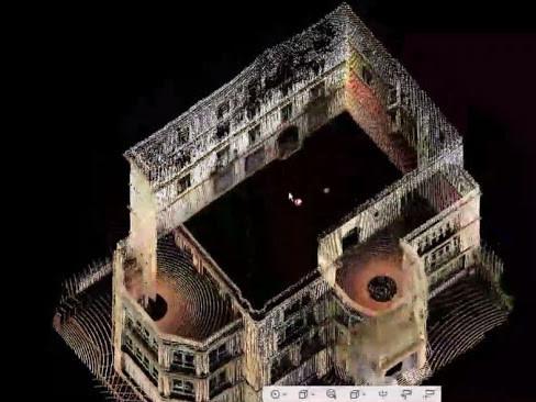 Nube de puntos a partir de escaneo láser 3D