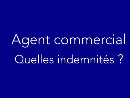 Agent commercial — indemnités