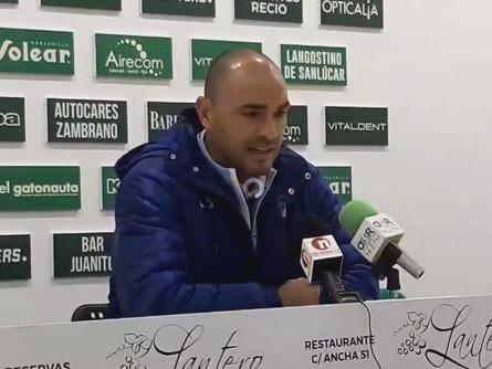 Manifestaciones de Jesús Castellanos tras el Atlético Sanluqueño 1 CP Villarrobledo 0