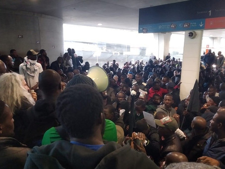 'France is not for the French alone,' says hundreds of illegal African migrants protesting in Paris