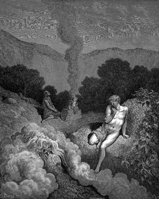 Gustave Dore, Cain and Abel Offering their Sacrifices