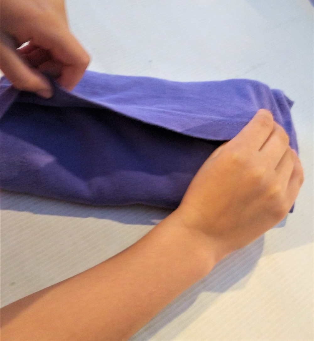 Neatly folded