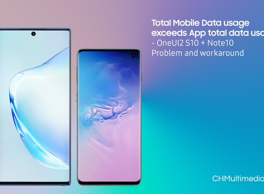 Total Mobile Data usage exceeds App total data usage - OneUI2 S10 + Note10 Problem and workaround