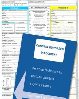 Le constat amiable d'accident
