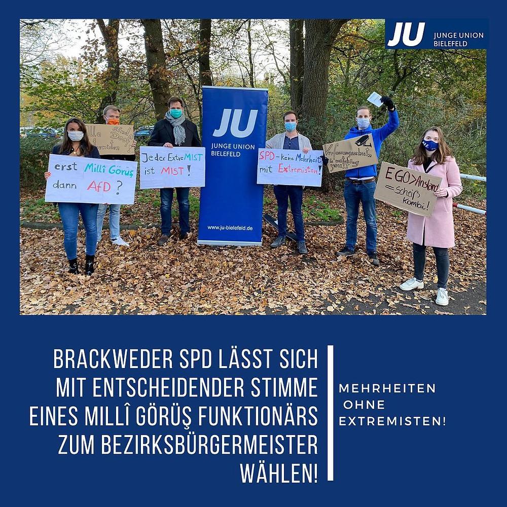 Protest-Aktion der Jungen Union Bielefeld