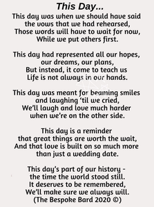 Poem for those whose weddings have been postponed