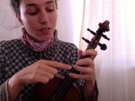 Teaching violin through a screen