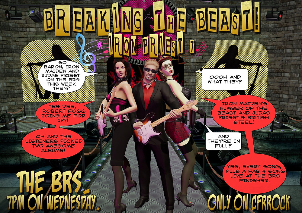 Promo pic for BREAKING THE BEAST: IRON PRIEST VII on Crossfire Radio