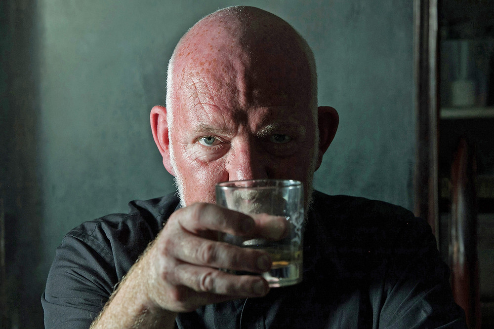 Cheers, though not really. Moray Treadwell as Hirst in London Classic's No Man's Land at Oldham Coliseum. Pics: company