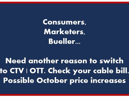 Consumers, Marketers, Bueller...Need another reason for #CTV #OTT