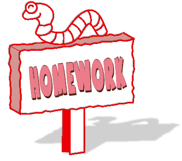 Homework - Friday 29th May