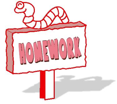 Homework - Friday 29th May
