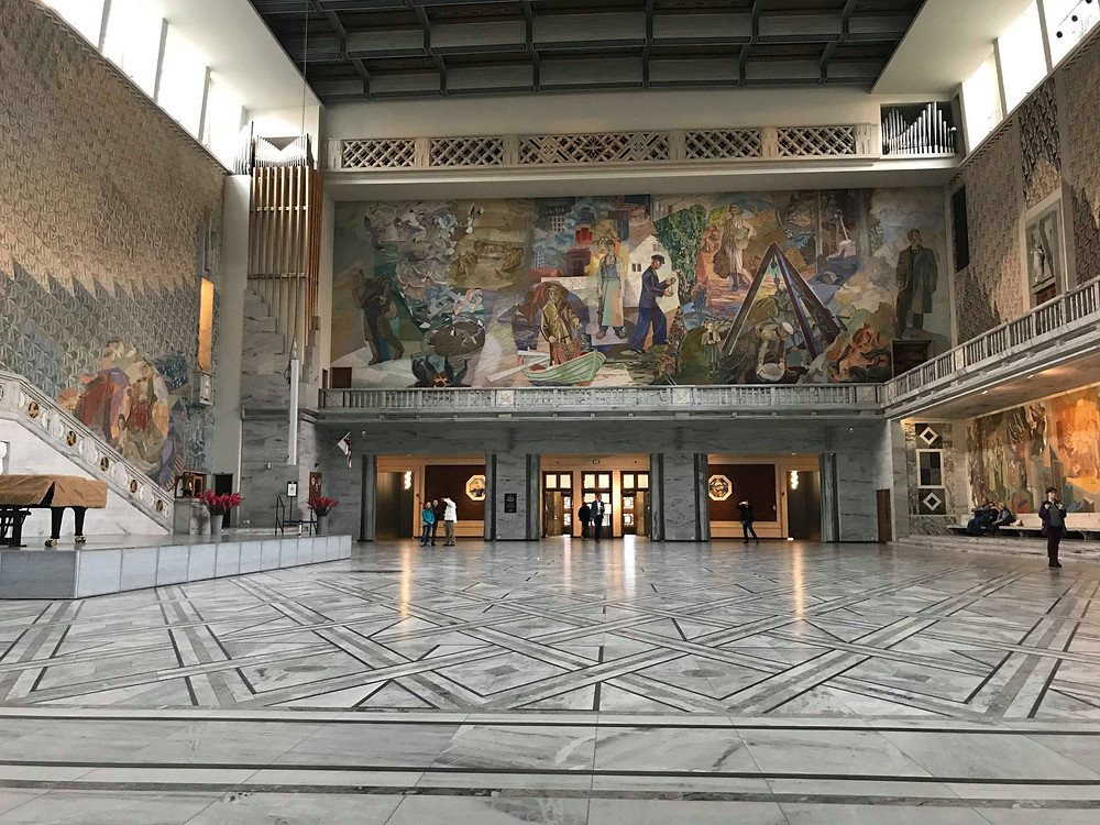 Oslo City Hall from the main hall inside, Oslo Norway