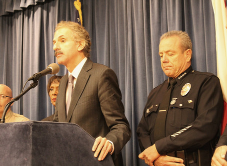 CITY ATTORNEY MIKE FEUER, DA JACKIE LACEY AND LAPD CHIEF MICHEL MOORE HIGHLIGHT HOLIDAY DUI'S