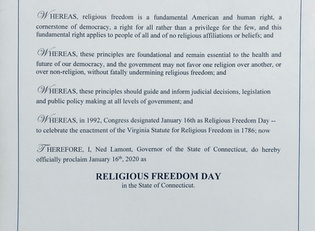 Freedom proclaimed for nonreligious and religious