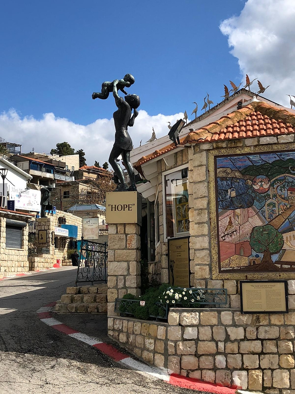 """HOPE"" sculpture in the Israeli city of Safed, by Vered Ostfeld"