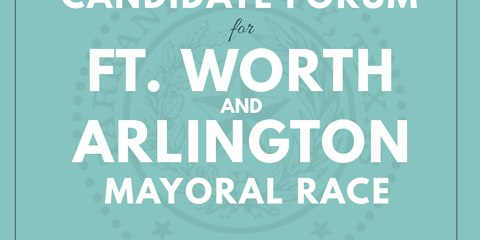 Candidate Forum - Mayoral Race