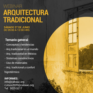 WEBINAR - Arquitectura Tradicional |CABAAC